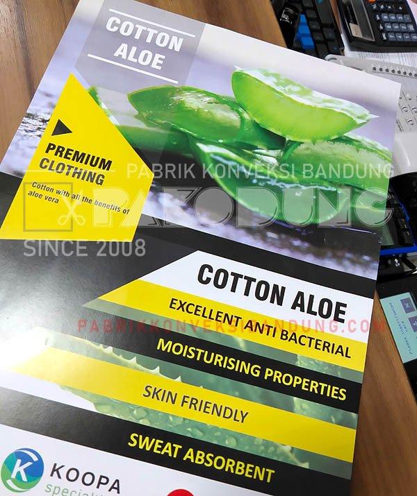 kaos katun aloe cotton aloe organic tshirts