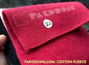 bahan fleece cotton
