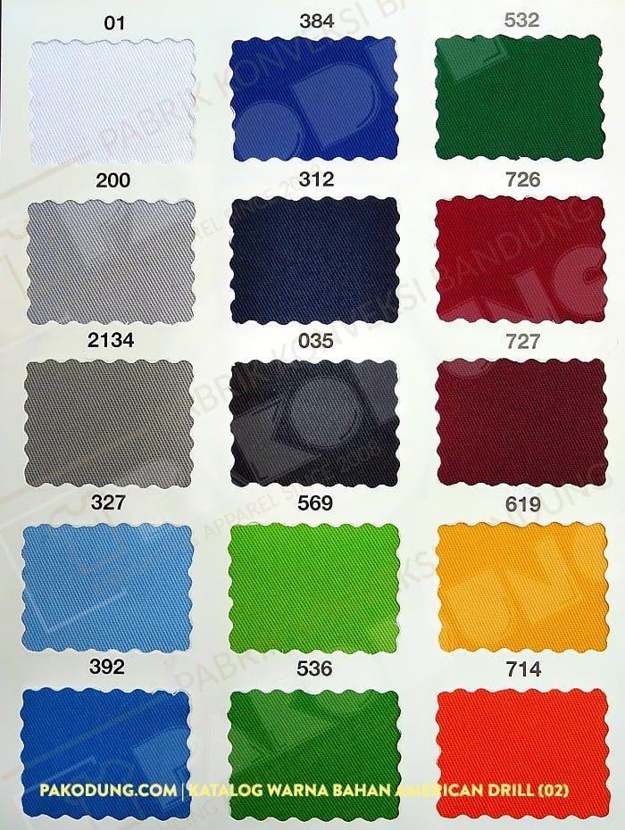 katalog warna bahan amaerican drill 1