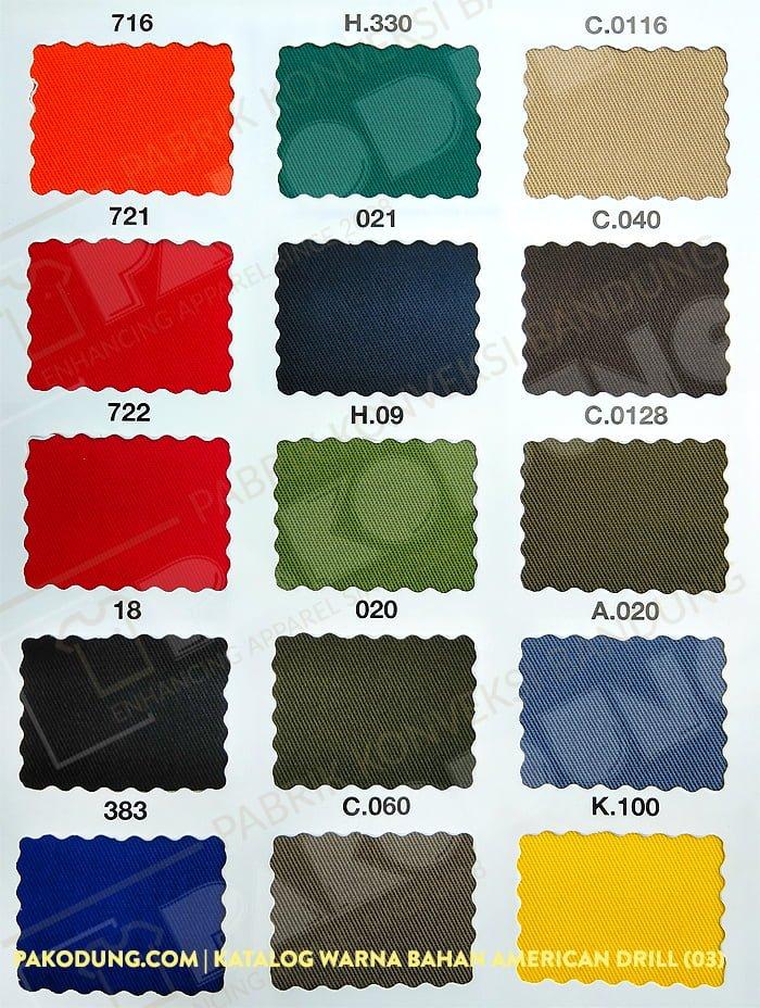 katalog warna bahan amaerican drill 3