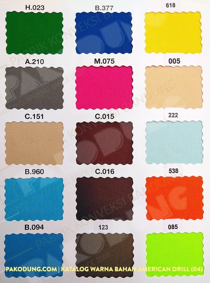 katalog warna bahan amaerican drill 4