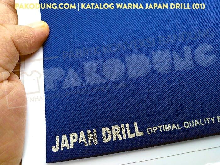 katalog warna bahan japan drill 1
