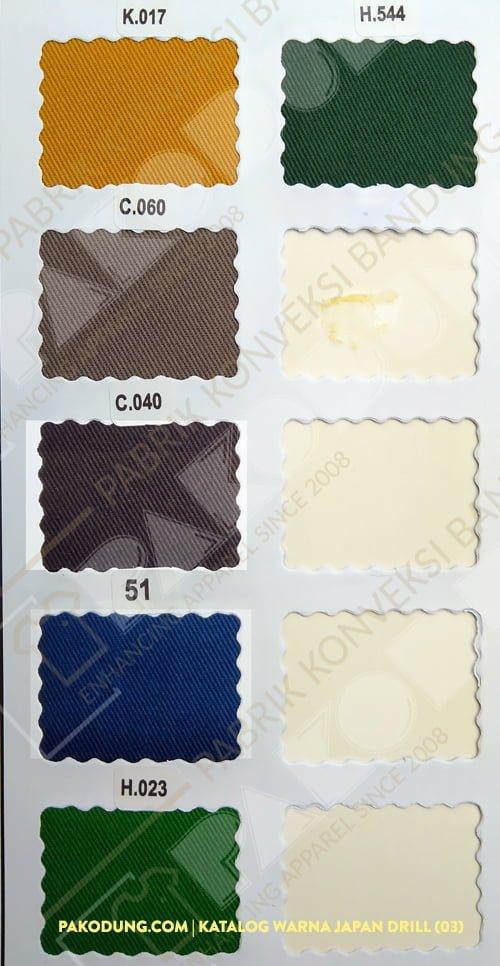 katalog warna bahan japan drill 3