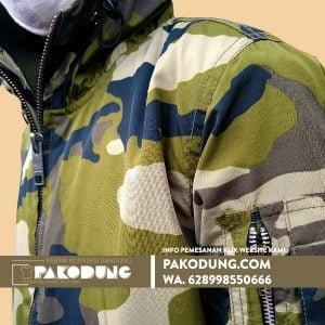 pabrik konveksi jaket windbreaker camo loreng