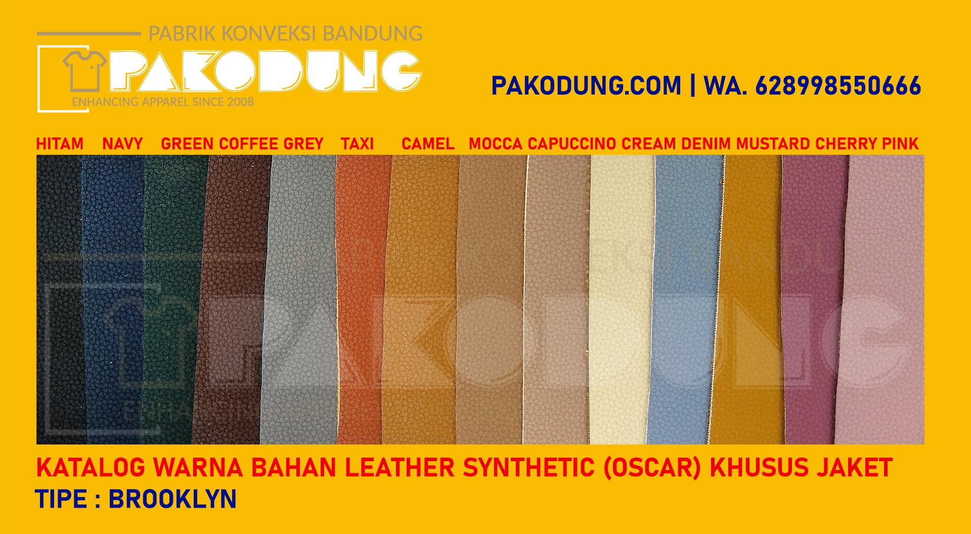 katalog warna bahan oscar kulit sintetis brooklyn
