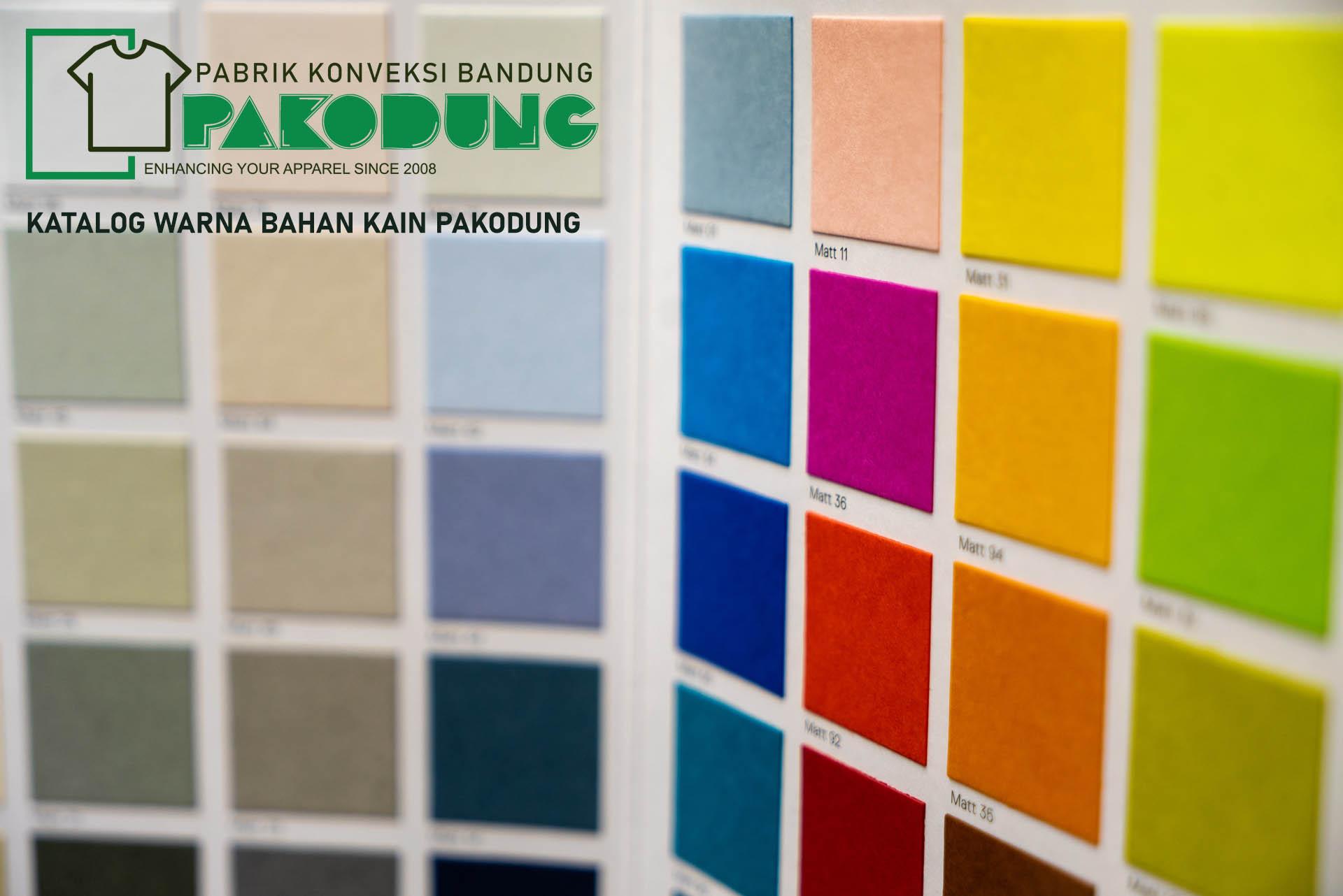 Katalog Warna Bahan