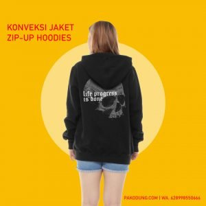 konveksi jaket zip-up hoodie bandung